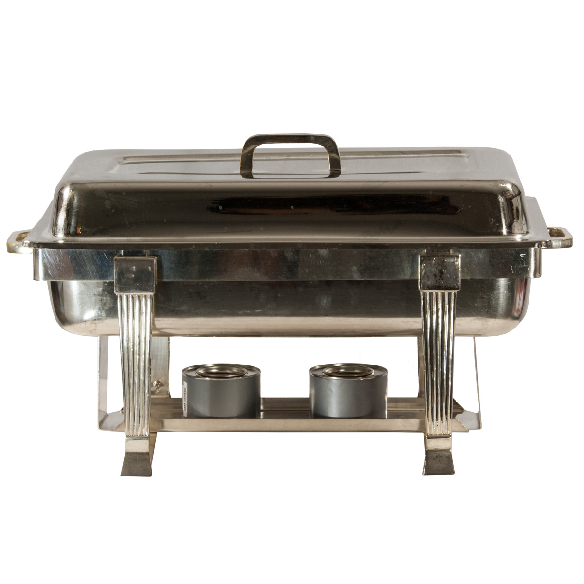 8 quart rectangular silverplate chafer