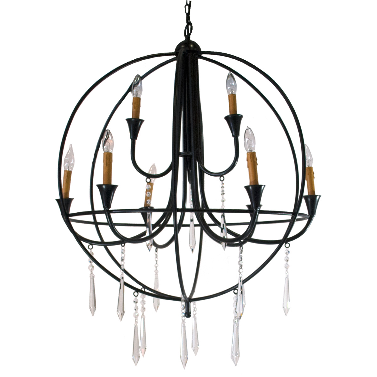 Wrought iron orb chandelier celebrations party rentals wrought iron orb chandelier arubaitofo Images