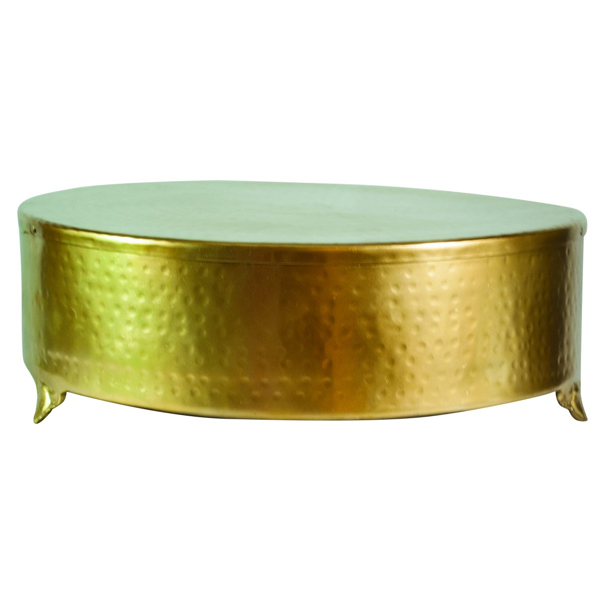 Round Gold Cake Stand - Celebrations! Party Rentals