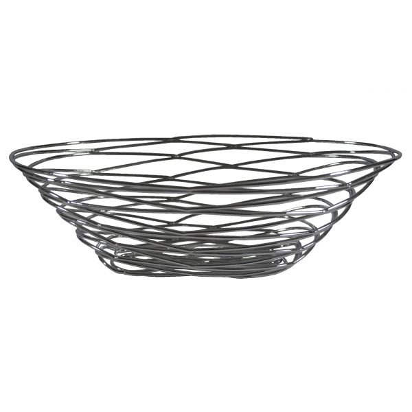 Celebrations Party Rentals: Chrome Bird Nest Bread Basket