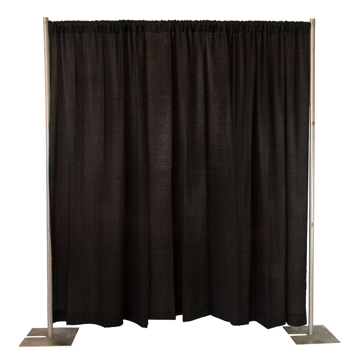 ft stand drape and with rentals party pipe celebrations tall product drapes chalkboard