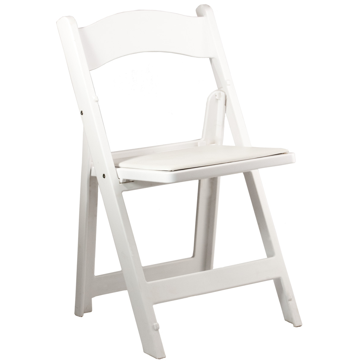 Folding Chair Padded White Celebrations Party Rentals