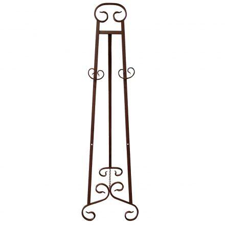 rustic iron easel