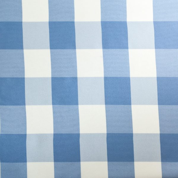 blue and white big check