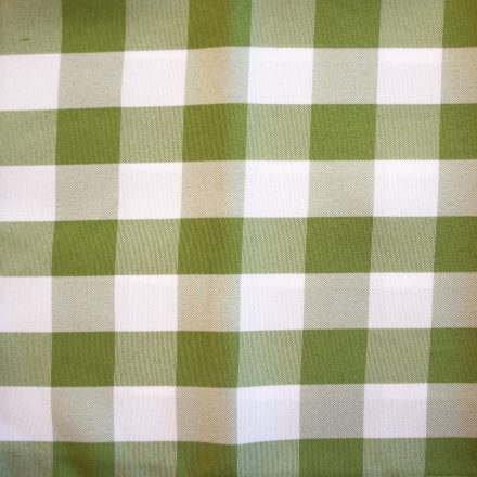 green and white check