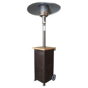 wood top patio heater