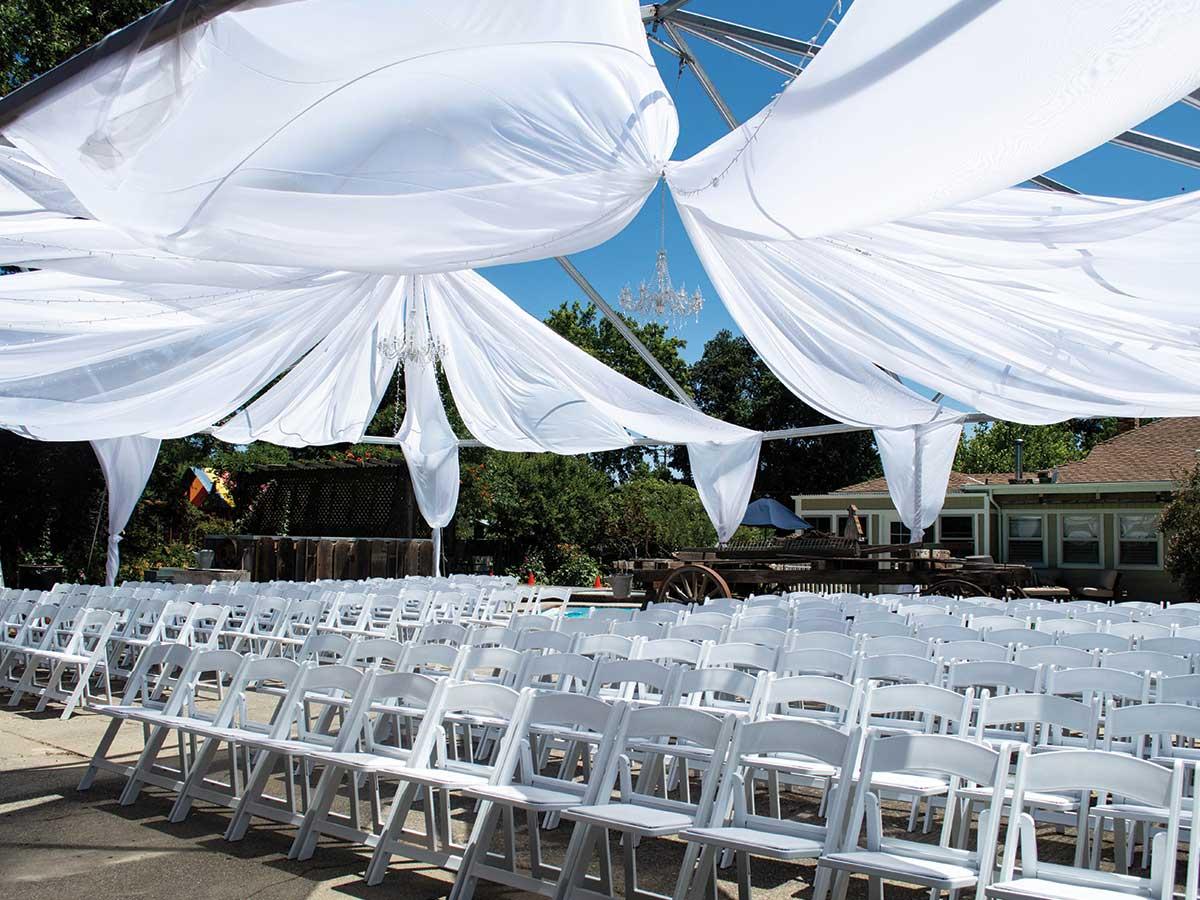 skeleton tent ceremony