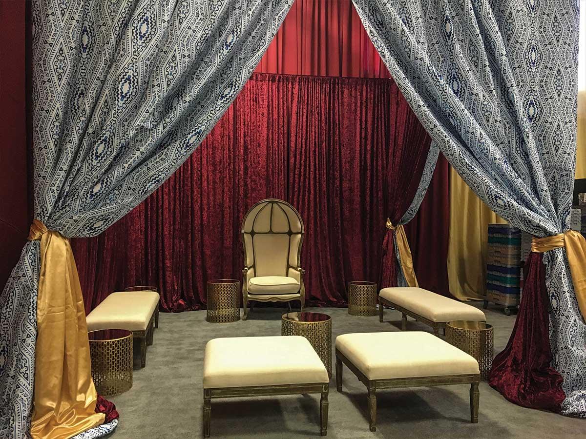 lounge area inside gym