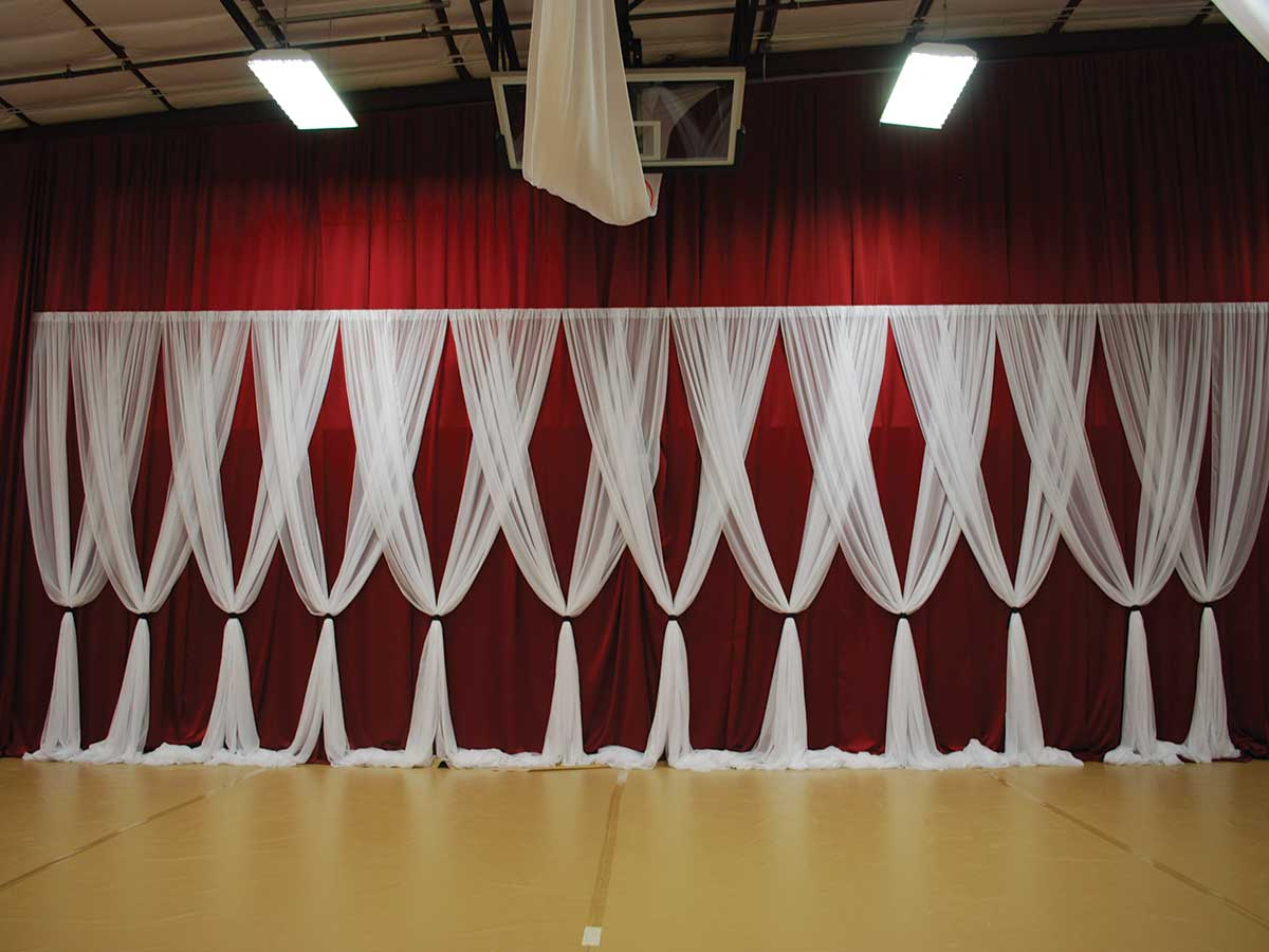 fabric draping on wall