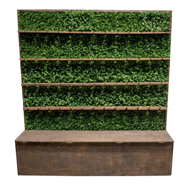 boxwood champagne/wine wall