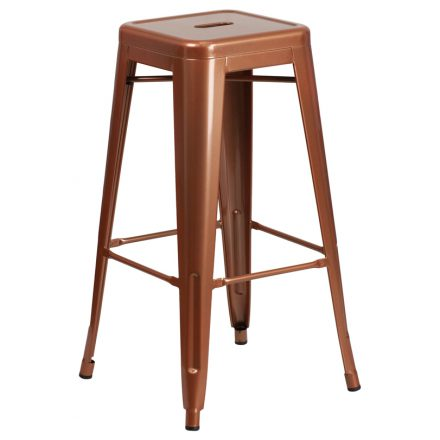 copper backless barstool
