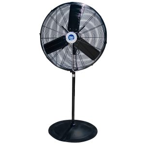Oscillating fan with misters