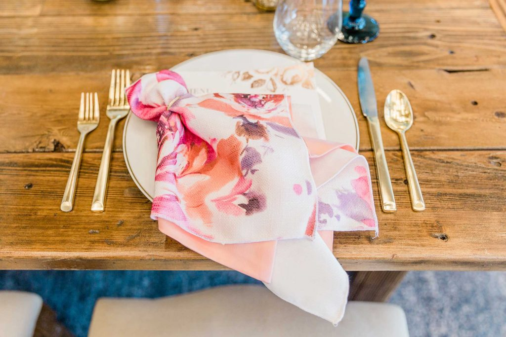 Floral pattered napkin